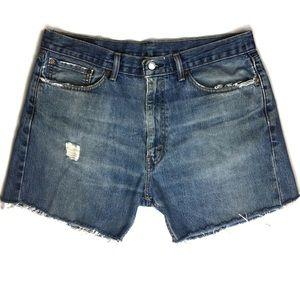 Levi's Original 505 Distressed Cutoff Shorts